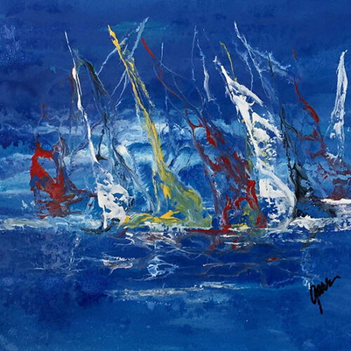 wet and windy sail
